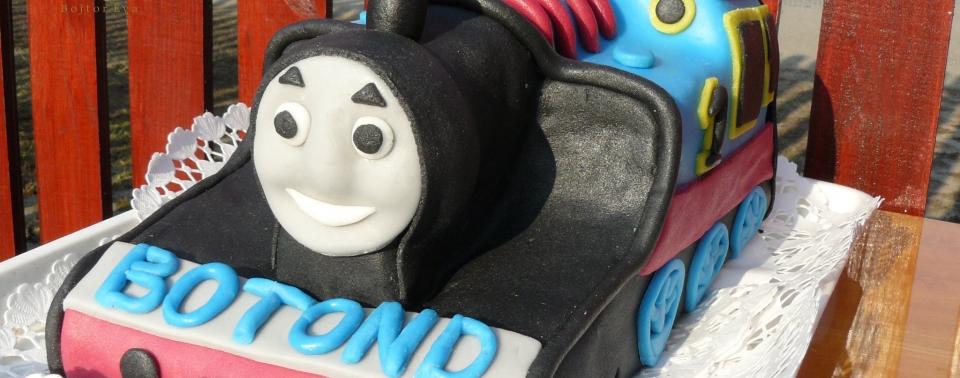 Thomas, a gőzmozdony torta