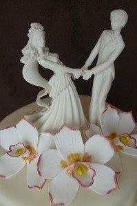 orchideás esküvői torta 2